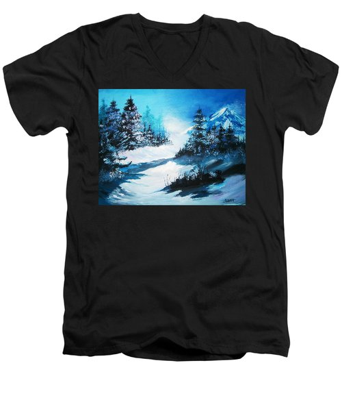 Wonders Of Winter Men's V-Neck T-Shirt