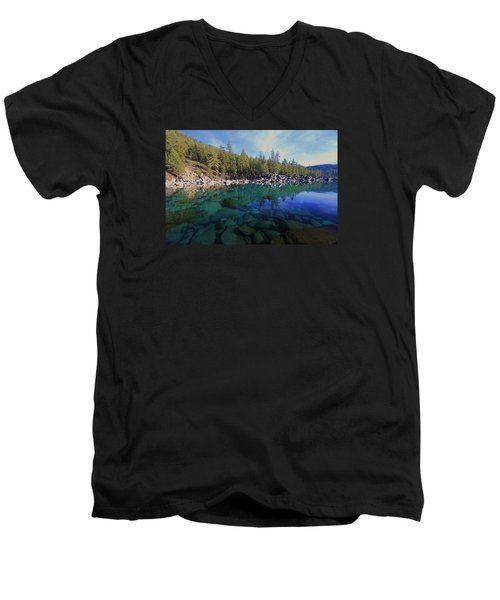 Men's V-Neck T-Shirt featuring the photograph Wondrous Waters by Sean Sarsfield