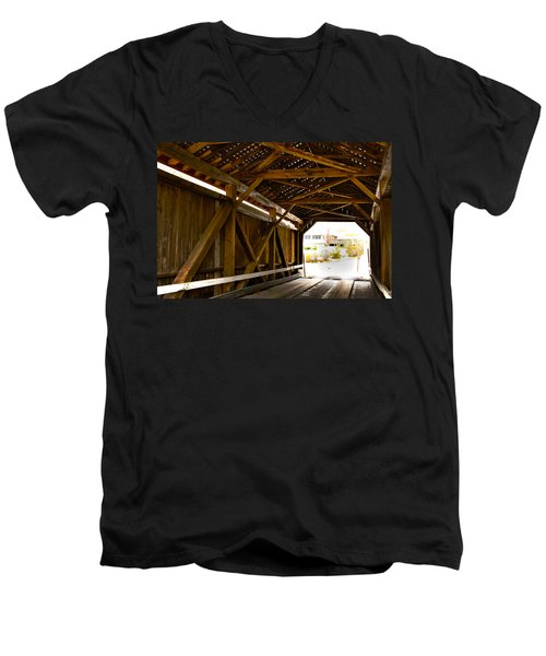 Wood Fame Bridge Men's V-Neck T-Shirt