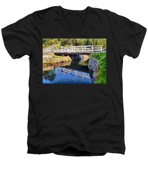 Wooden Bridge Men's V-Neck T-Shirt