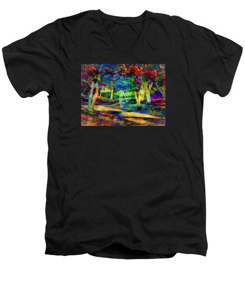 Woodland Gem Men's V-Neck T-Shirt by William Beuther