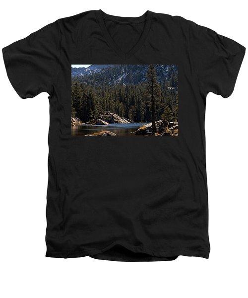 Woods Lake Men's V-Neck T-Shirt