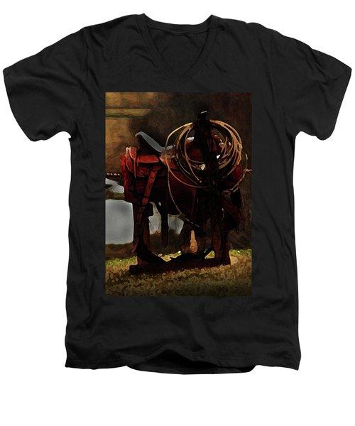 Working Man's Saddle Men's V-Neck T-Shirt