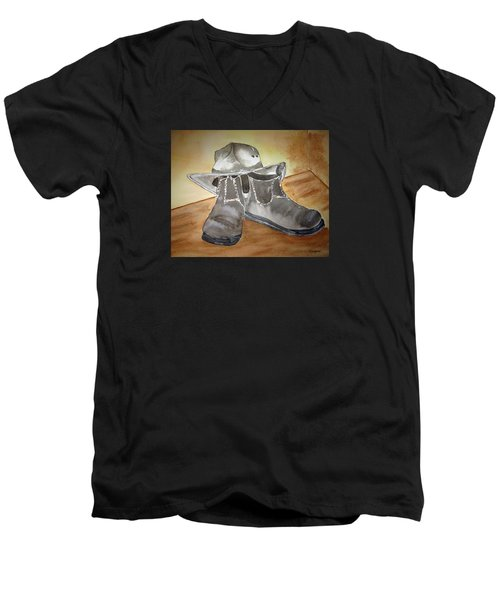 Working On The Land Men's V-Neck T-Shirt by Elvira Ingram