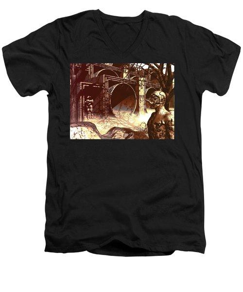 World Of Ruin Men's V-Neck T-Shirt