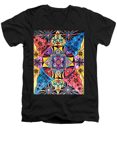 Worldly Abundance Men's V-Neck T-Shirt