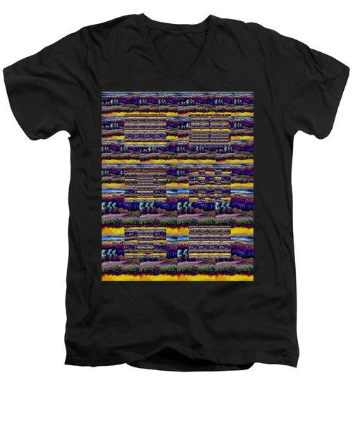 Woven Southwestern Sampler Men's V-Neck T-Shirt