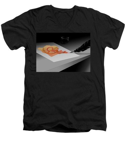 Written Men's V-Neck T-Shirt