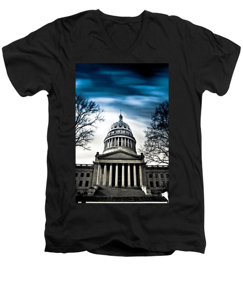 Wv State Capitol Building Men's V-Neck T-Shirt by Shane Holsclaw