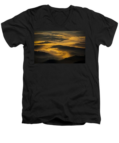Wva Sunrise 2013 June II Men's V-Neck T-Shirt