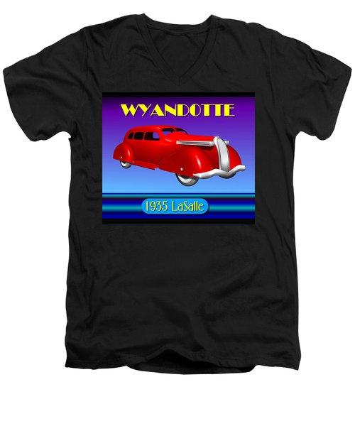 Wyandotte 1935 Lasalle Men's V-Neck T-Shirt by Stuart Swartz