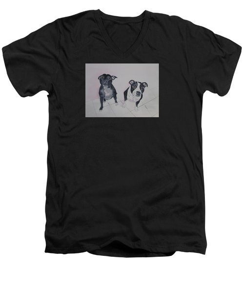 Are You Looking At Me Men's V-Neck T-Shirt by Elvira Ingram