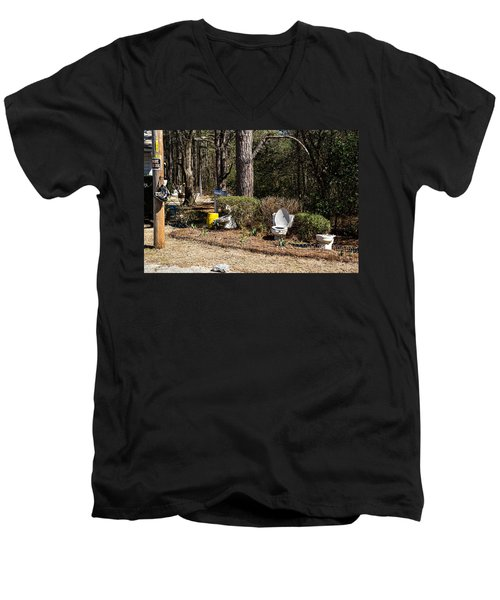 Yard Art Hwy 21 South Men's V-Neck T-Shirt