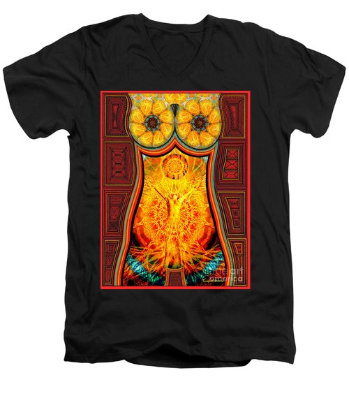 Yearning-spirit Rising Men's V-Neck T-Shirt