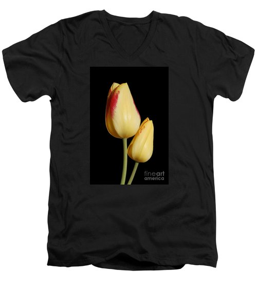 Yellow And Red Tulips  Men's V-Neck T-Shirt