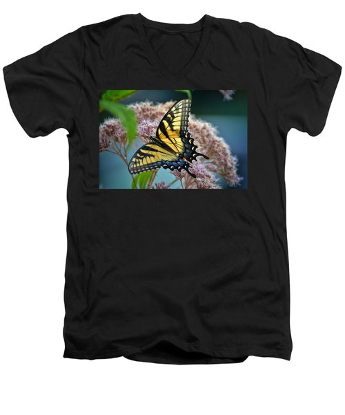 Yellow Butterfly Men's V-Neck T-Shirt