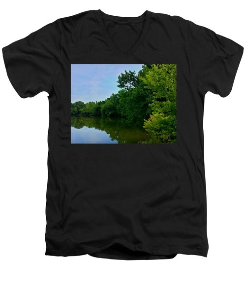 Men's V-Neck T-Shirt featuring the photograph Yellow Creek by Chris Tarpening