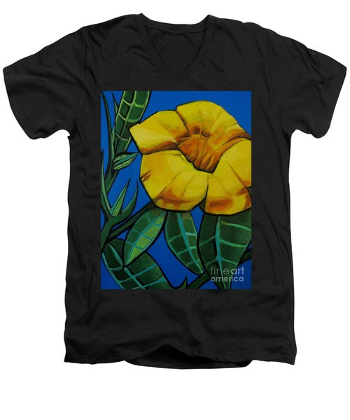 Yellow Elder - Flower Botanical Men's V-Neck T-Shirt