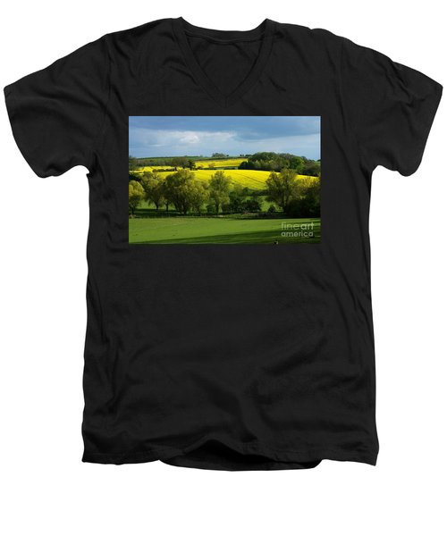 Yellow Fields In The Sun Men's V-Neck T-Shirt