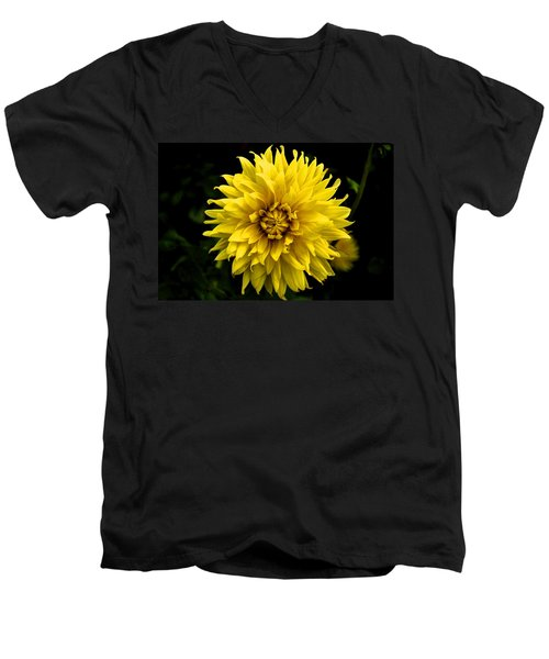 Yellow Flower Men's V-Neck T-Shirt by Matt Harang