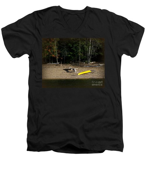 Yellow Kayak Men's V-Neck T-Shirt