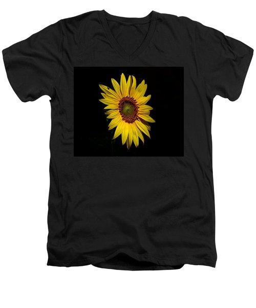 Yellow On Black Men's V-Neck T-Shirt