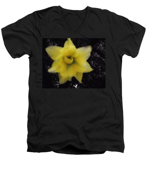Yellow Parrot Tulip Men's V-Neck T-Shirt