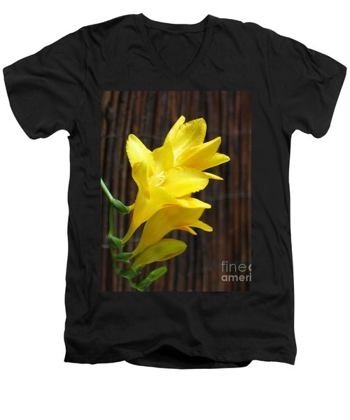 Yellow Petals Men's V-Neck T-Shirt