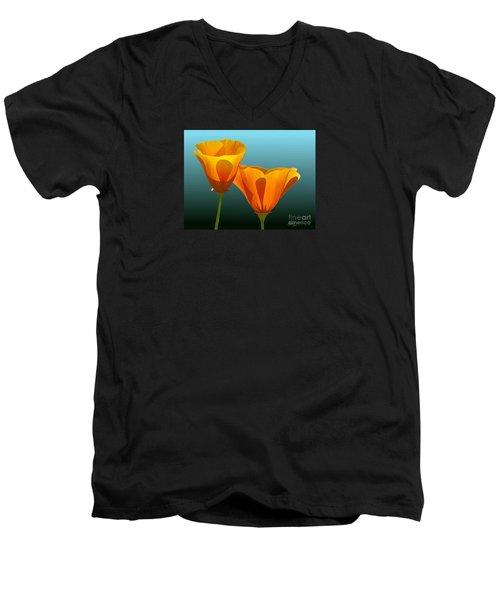 Yellow Poppies Men's V-Neck T-Shirt