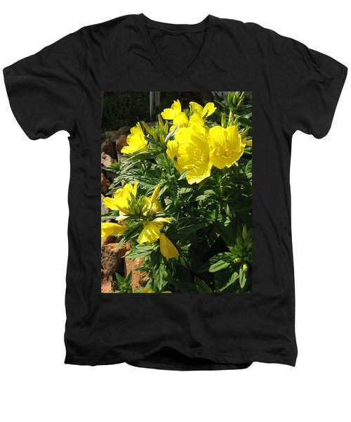 Yellow Primroses Men's V-Neck T-Shirt