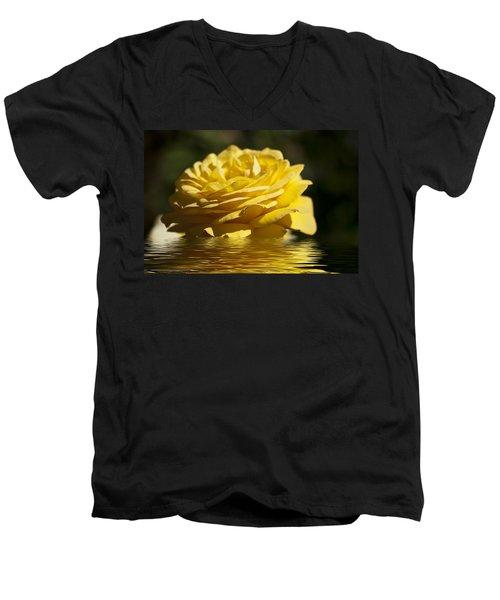 Yellow Rose Flood Men's V-Neck T-Shirt