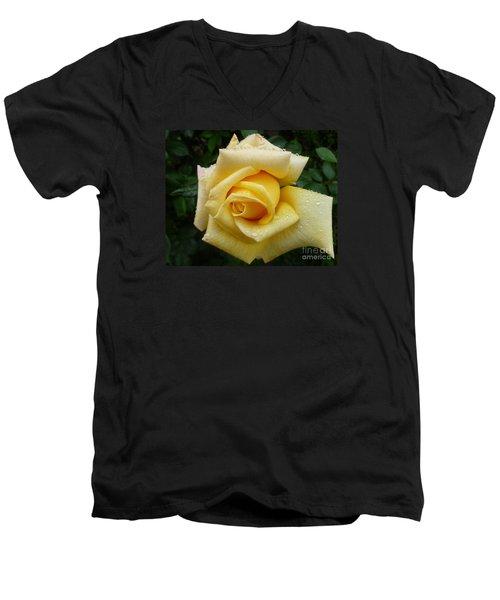 Yellow Rose Say Goodbye Men's V-Neck T-Shirt