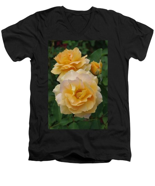 Men's V-Neck T-Shirt featuring the photograph Yellow Roses by Marilyn Wilson