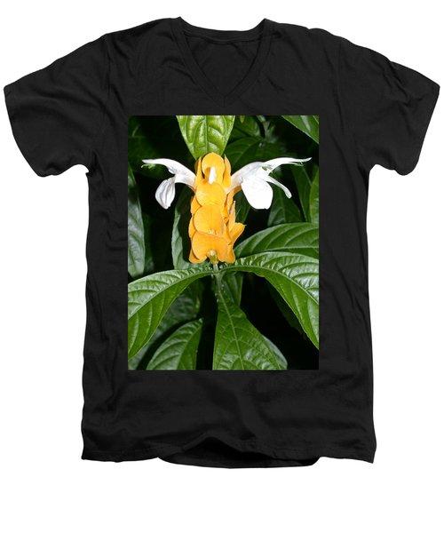Yellow Shrimp Plant Men's V-Neck T-Shirt