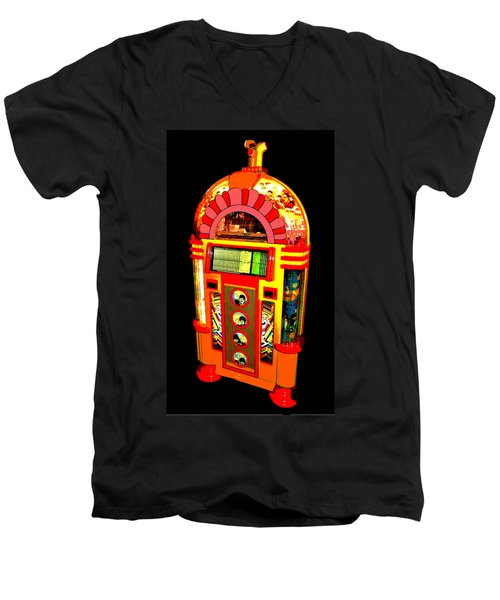 Men's V-Neck T-Shirt featuring the photograph Yellow Submarine Poster by Jean Goodwin Brooks