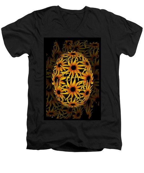 Yellow Sunflower Seed Men's V-Neck T-Shirt