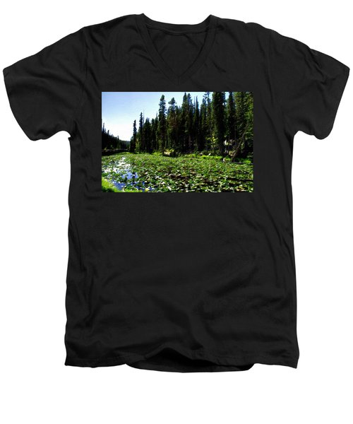 Yellowstone Lily Pads  Men's V-Neck T-Shirt