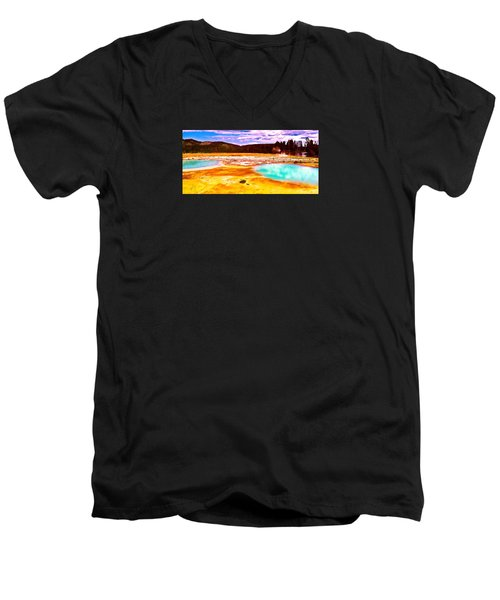 Yellowstone National Park Men's V-Neck T-Shirt