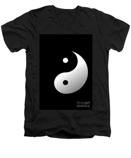 Yin And Yang Men's V-Neck T-Shirt