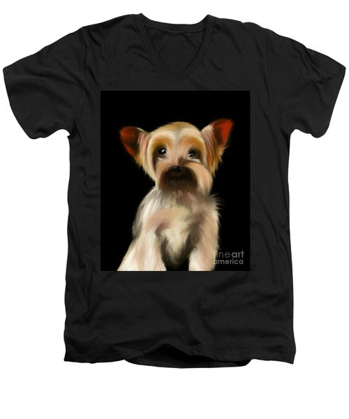 Yorkshire Terrier Pup Men's V-Neck T-Shirt