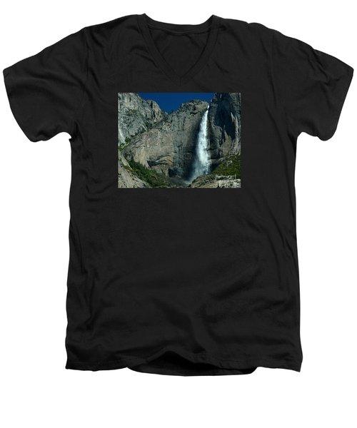 Men's V-Neck T-Shirt featuring the photograph Yosemite Falls by Nick  Boren
