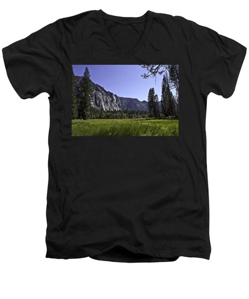Men's V-Neck T-Shirt featuring the photograph Yosemite Meadow by Brian Williamson