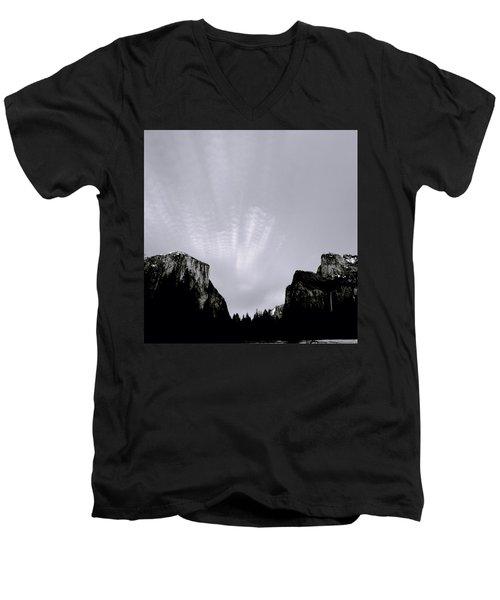 Yosemite National Park Men's V-Neck T-Shirt by Shaun Higson