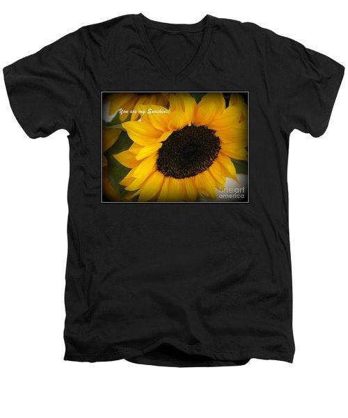 You Are My Sunshine - Greeting Card Men's V-Neck T-Shirt by Dora Sofia Caputo Photographic Art and Design