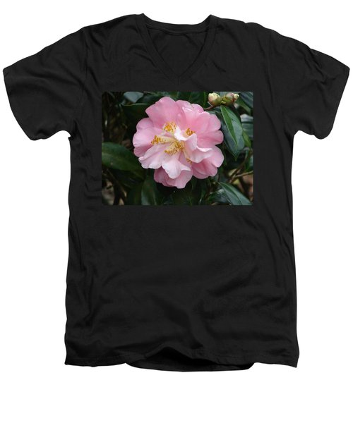 Men's V-Neck T-Shirt featuring the photograph You Make Me Blush by Lew Davis
