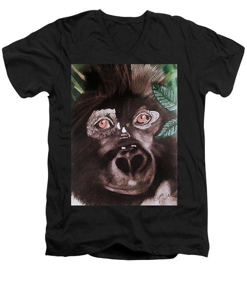 Young Gorilla Men's V-Neck T-Shirt