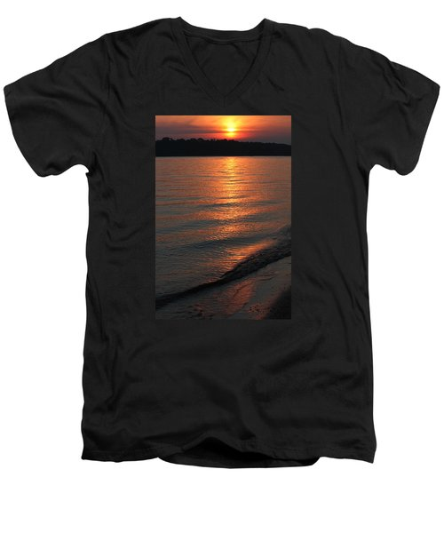 Men's V-Neck T-Shirt featuring the photograph Your Moment Of Zen by Julie Andel