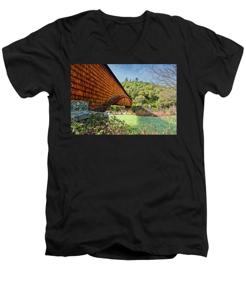 Men's V-Neck T-Shirt featuring the photograph Yuba State Park by Jim Thompson