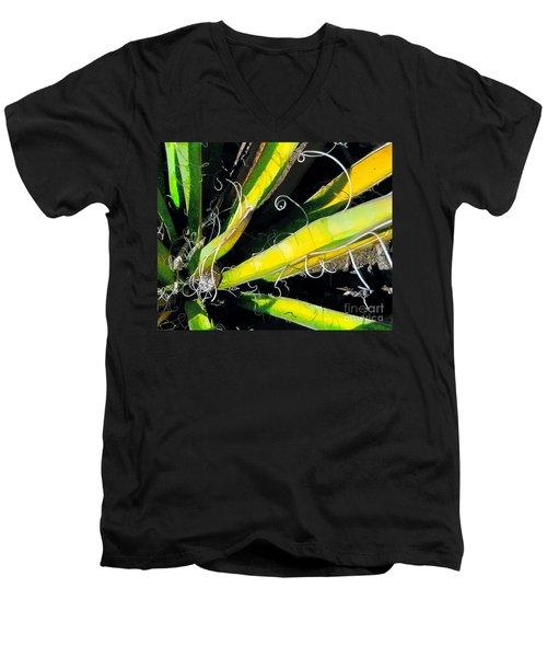 Yucca Spirals Men's V-Neck T-Shirt