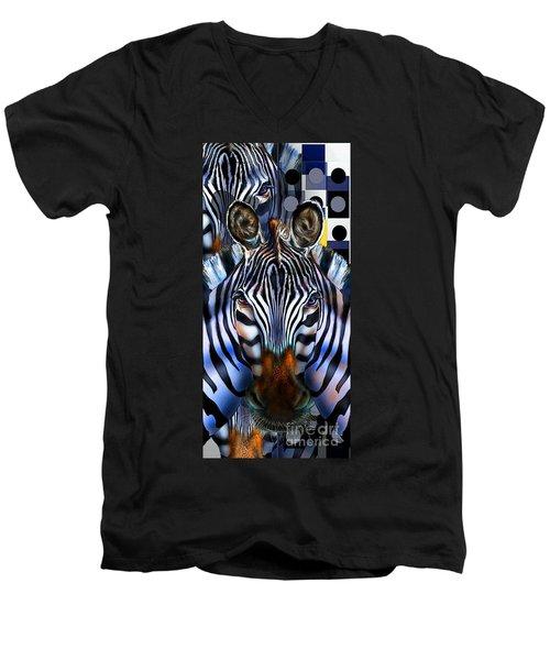 Zebra Dreams Men's V-Neck T-Shirt